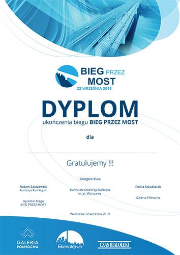 Dyplom ukończenia Biegu